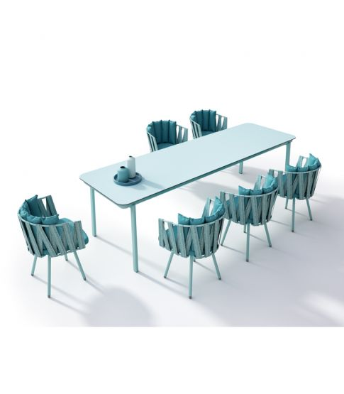 Anthea Dinning Table Marine: Estructura Cielo Con Hpl  1x